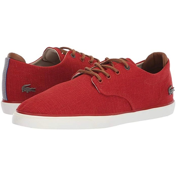 5b2c3ffc1dbf Lacoste Men s Esparre 318 Red Fashion Shoes New